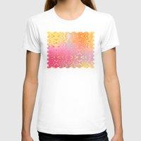orange pattern T-shirts featuring Happy Hippie Pattern (orange) by NatalieCatLee