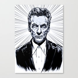 The Twelfth Doctor - Peter Capaldi Canvas Print