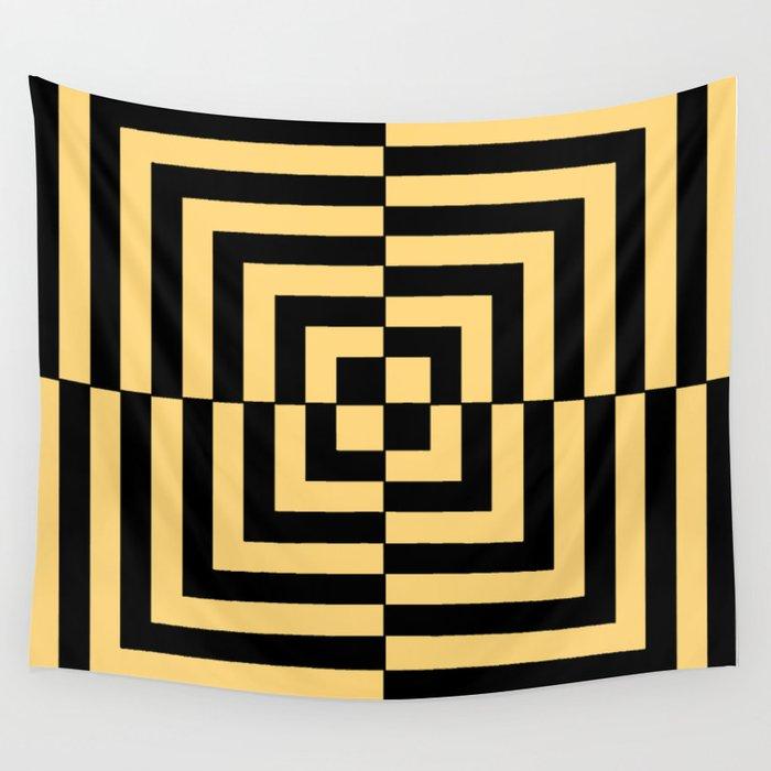 Graphic Geometric Pattern Minimal 2 Tone Illusion Squares (Golden ...