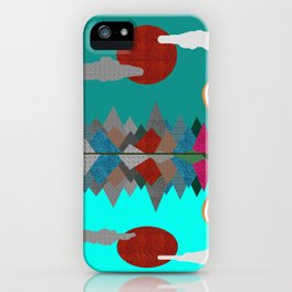 Hot Air Balloons Over Fabric Mountains iPhone Case