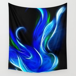 Blue Flower Digital Wall Tapestry