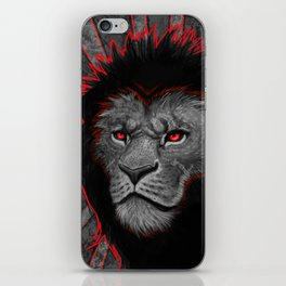 Mighty Black Mained Lion iPhone Skin