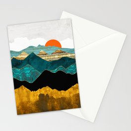 Turquoise Vista Stationery Cards