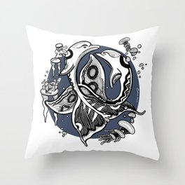 Aquaillum Throw Pillow