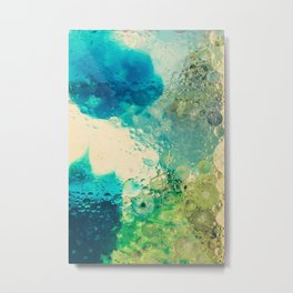 Retro Abstract Photography Underwater Bubble Design Metal Print