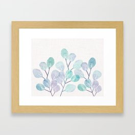 Eucalyptus / Watercolor Collage Framed Art Print
