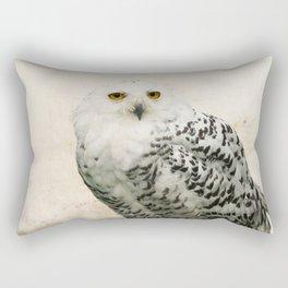 Snowy Owl Rectangular Pillow