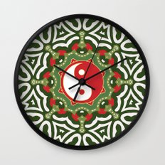 Holiday Festive Balance Yin Yang Wall Clock