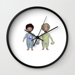 Anisue's Twin Baby, Cu and Ty. Wall Clock