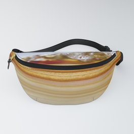 Natural Agate Geode Brown Striped// Title: Wildwood Fanny Pack