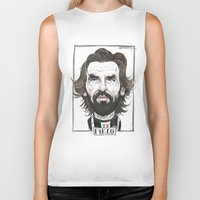 pirlo Biker Tanks featuring ANDREA PIRLO by BANDY