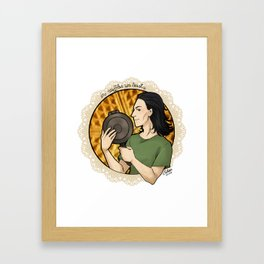 In Waffles We Trust Framed Art Print