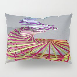 Swirly Box POV RAY Tracing CGI 8000x6000 Pixels 32 Bit Color Palette Pillow Sham