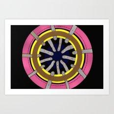 radial blame III Art Print