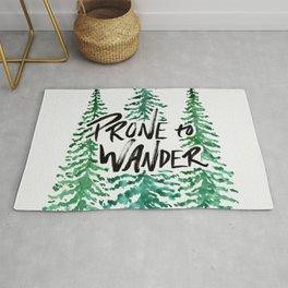 Prone to Wander - Green Rug