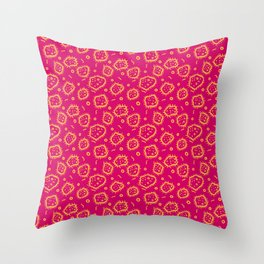 Amoeba Print, Pink and Orange! Throw Pillow