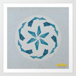 Mandala no.3 Blue Art Print