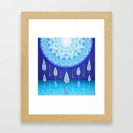 Blue Moonlight Sonata, Mandala artwork by Soozie Wray Framed Art Print