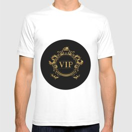 VIP In Black and Goldtone T-shirt