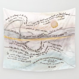 Words To Comfort Wall Tapestry