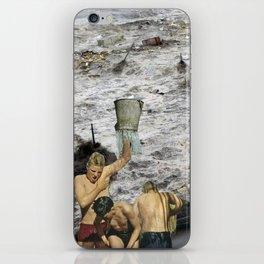 Kaiju Bath Tub - Vintage Collage iPhone Skin