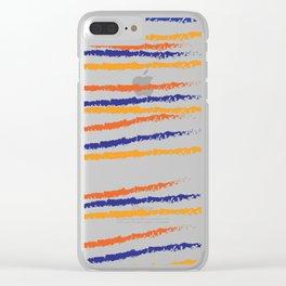 color blue orange Clear iPhone Case