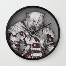 Fenris the DireWolf  Wall Clock
