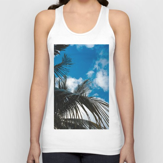 Sky behind the trees Unisex Tank Top