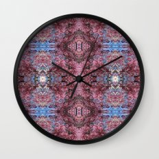 Pretty in Pink Collage 1 Wall Clock