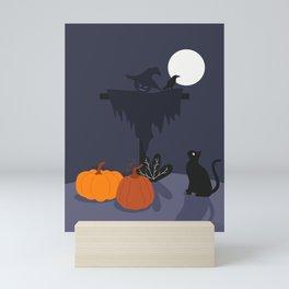 Scarecrow & Cat Mini Art Print