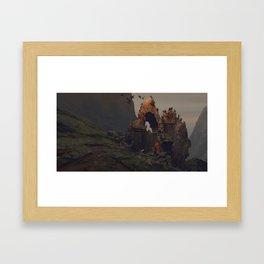 White Crow Framed Art Print