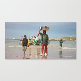 Back fishing day Canvas Print