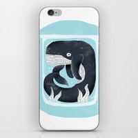 the whale iPhone & iPod Skins featuring Whale by Rodrigo Fortes