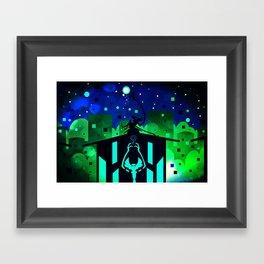 Star Drowning Framed Art Print