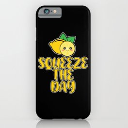Squeeze The Day Vitamin C Small Lemons iPhone Case