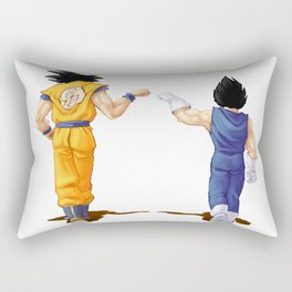Fan Art Goku and Vegeta friends Rectangular Pillow