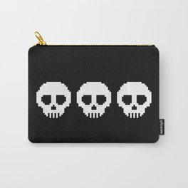 Pixel Skulls - Black Carry-All Pouch