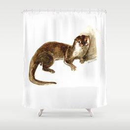 Totem otter: Amblonyx cinerea Shower Curtain