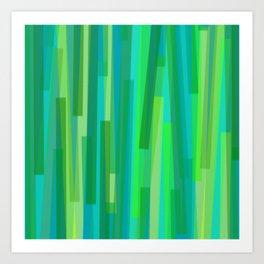 Geometric Green Painting Art Print