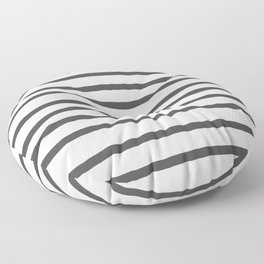 Simply Drawn Stripes in Simply Gray Floor Pillow