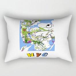 Kiss-NYC map Rectangular Pillow