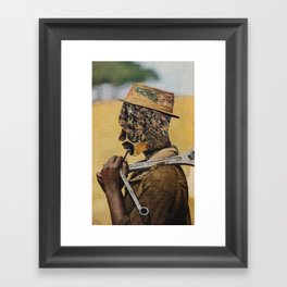 the bees Framed Art Print