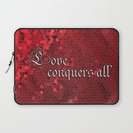 Love Conquers All Ruby Laptop Sleeve