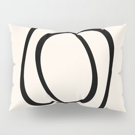 Interlocking Two A - Minimalist Line Abstract Pillow Sham