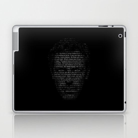House MD Quotes Print (It's never lupus) Laptop & iPad Skin