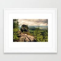 poland Framed Art Prints featuring  Table Mountains in Poland by Kamil Sypień