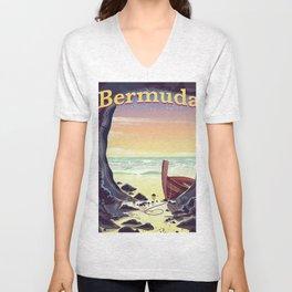 Bermuda Pirate Cave Unisex V-Neck