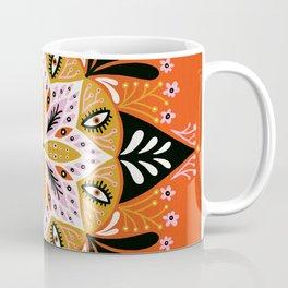 Sprouting Mandala – Tangerine Palette Coffee Mug