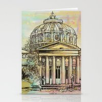 roman Stationery Cards featuring Ateneul Roman by Nechifor Ionut