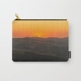Dramatic sunset view of olive farms from mountain village Zahara de la Sierra in Spain Carry-All Pouch